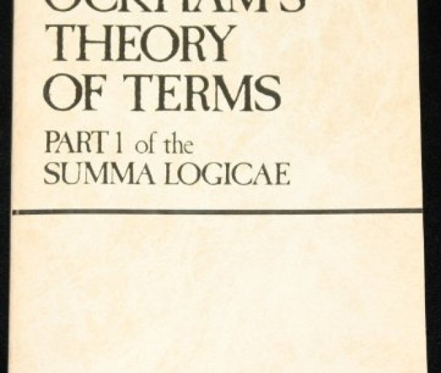 9780268005511 Ockhams Theory Of Terms Part 1 Of The Summa Logicae
