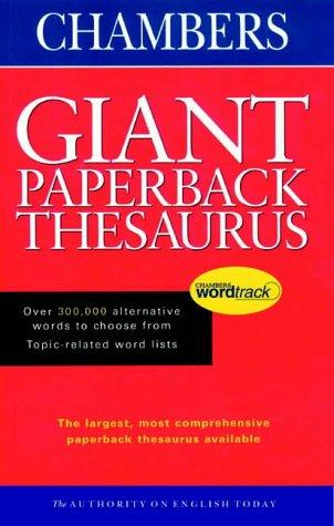 9780550105950 Chambers Giant Paperback Thesaurus