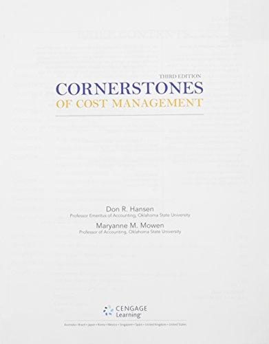 9781305138919: Bundle: Cornerstones of Cost Management