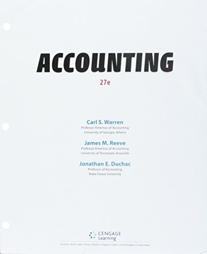 Bundle: Accounting, Loose-leaf Version, 27th