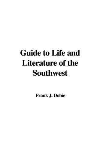 J.Frank Dobie: used books, rare books and new books
