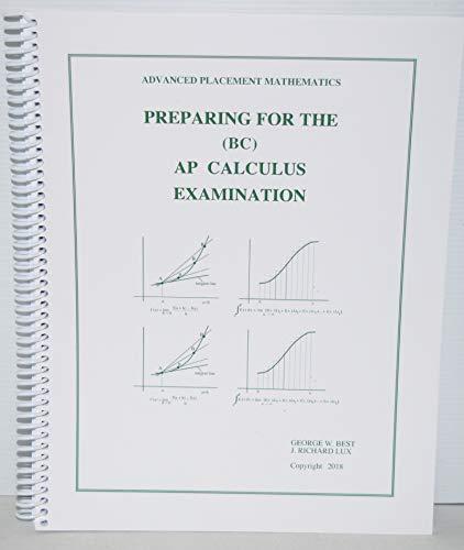 Preparing for the Ap Calculus Examination-Bc (1886018162