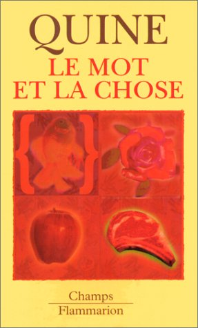 Le Mot Et La Chose : chose, Chose, AbeBooks