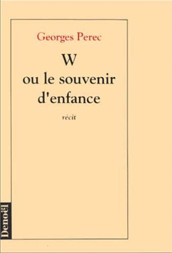 Georges Perec W Ou Le Souvenir D Enfance : georges, perec, souvenir, enfance, Souvenir, D'enfance, AbeBooks