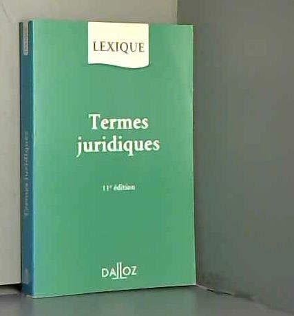 Lexique Des Termes Juridiques - AbeBooks