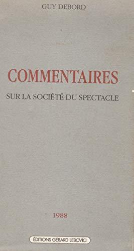 Commentaires Sur La Société Du Spectacle : commentaires, société, spectacle, 9782851842107:, Commentaires, Société, Spectacle, (Champ, Libre), (French, Edition), AbeBooks, Debord,, 2851842102