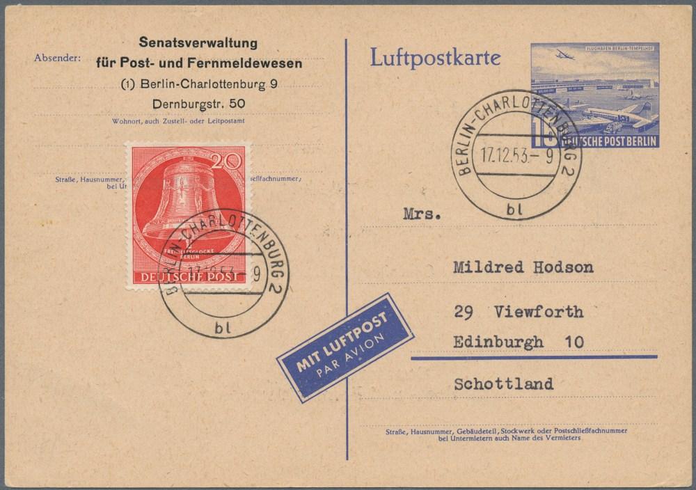medium resolution of lot 26358 berlin ganzsachen auktionshaus christoph g rtner gmbh co