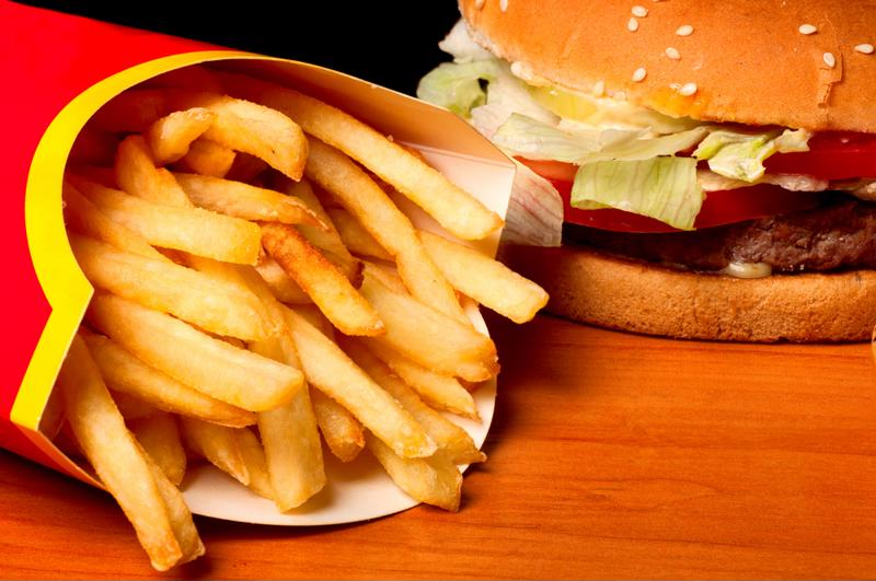 Avoid routes that take you near fast food restaurants.