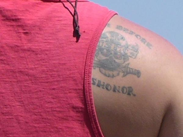 Many Marines choose to get tattoos about their time in service.
