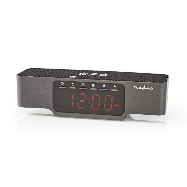 Digital Alarm Clock Radio Wireless Phone Charging Fm
