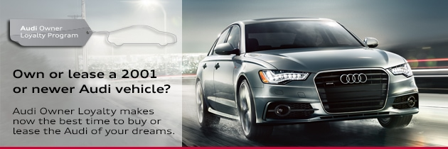 Audi Owner Loyalty Offers For Current Audi Owners In