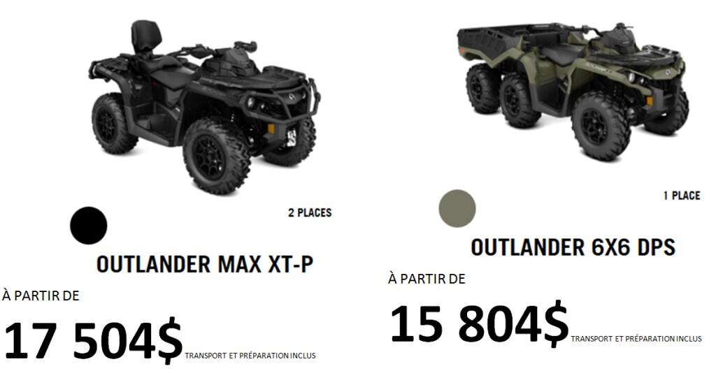 La gamme complète des véhicules tout terrain Can-Am 2018