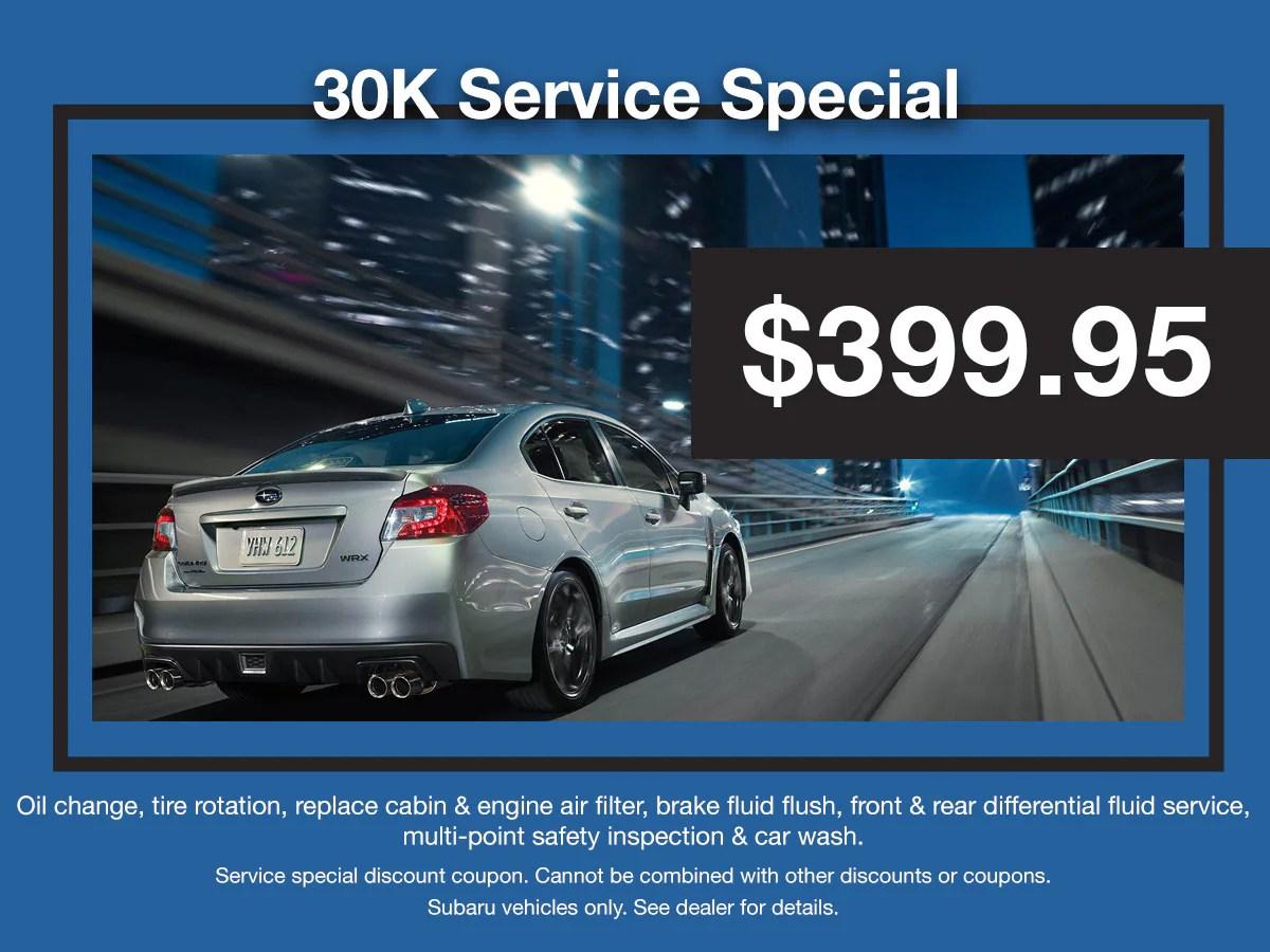hight resolution of subaru 30k service special