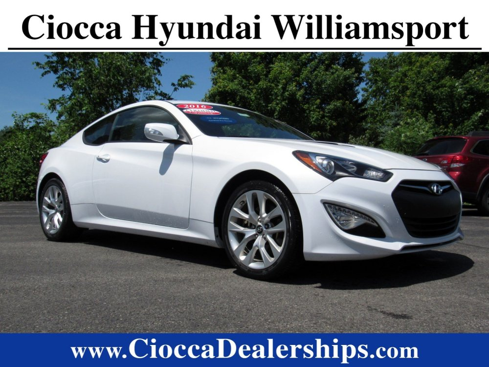 medium resolution of certified pre owned 2016 hyundaigenesis coupe 3 8 base w black seats