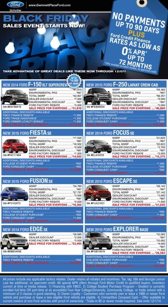 Ford Motor Credit Atlanta Ga : motor, credit, atlanta, Black, Friday, Duluth, Atlanta, Dealer, Event