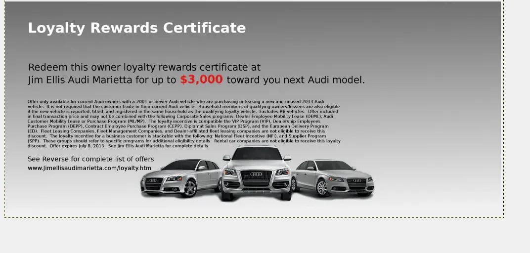 Audi Owner Loyalty At Jim Ellis Audi Marietta- Special