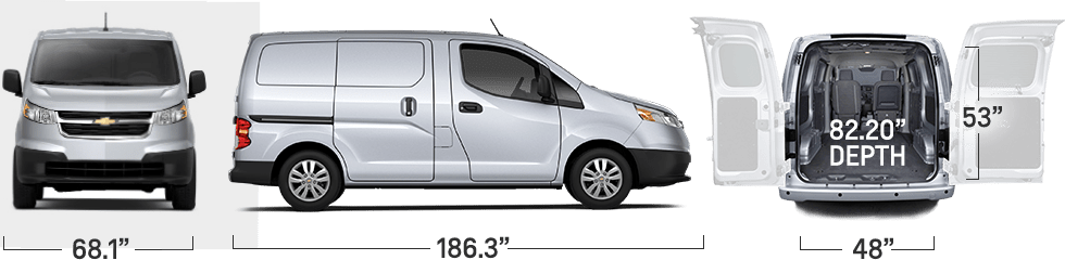 chevy city express interior dimensions. Black Bedroom Furniture Sets. Home Design Ideas