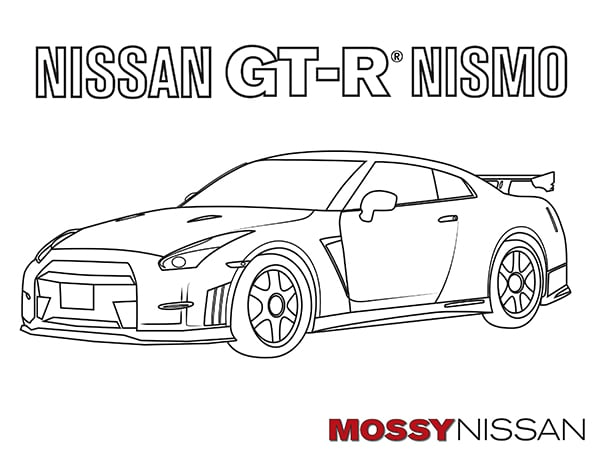 Mossy Nissan370z coloring book kids GTR nissan San diego