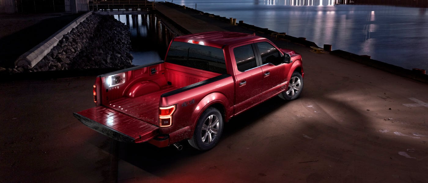 hight resolution of 2019 ford f 150 red parked by water at night