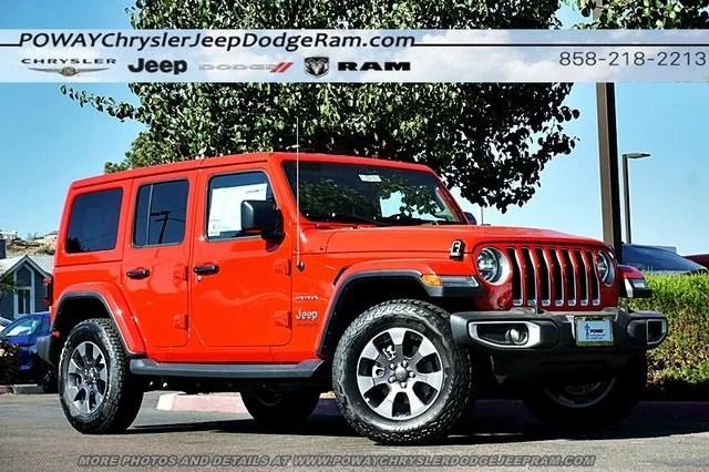 New 2018 Jeep Wrangler Unlimited Sahara 4x4 For Sale Poway