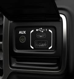 dual usb ports are located in the media hub in the console an extra port is located in the center armrest additional usb ports are available for rear  [ 1440 x 810 Pixel ]