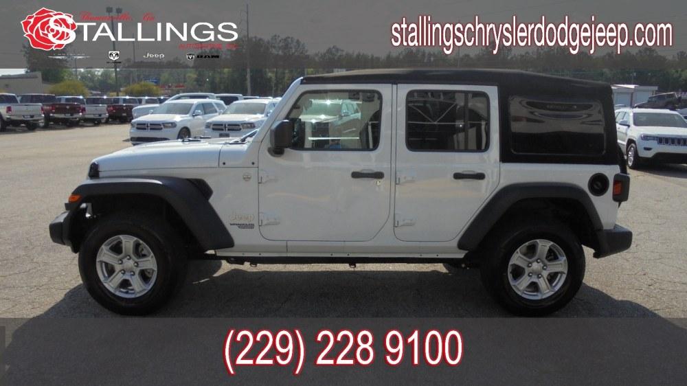 medium resolution of new 2018 jeep wrangler unlimited sport s 4x4 for sale in thomasville ga