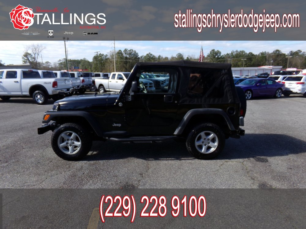 medium resolution of used 2006 jeep wrangler se suv for sale in thomasville ga