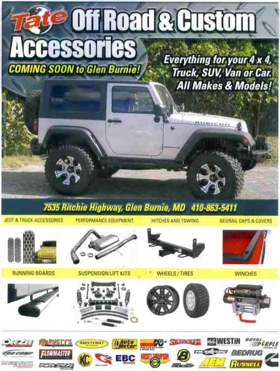 Tate Glen Burnie : burnie, Off-Road, Accessories, Center, Dodge, Chrysler, Jeep,