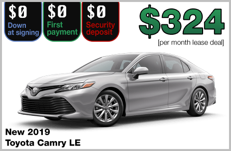 all new camry review grand veloz 2017 toyota deals lease a 2019 le with 0 down for just 324 month 36 months