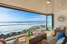 oceanside home with deck beachfront