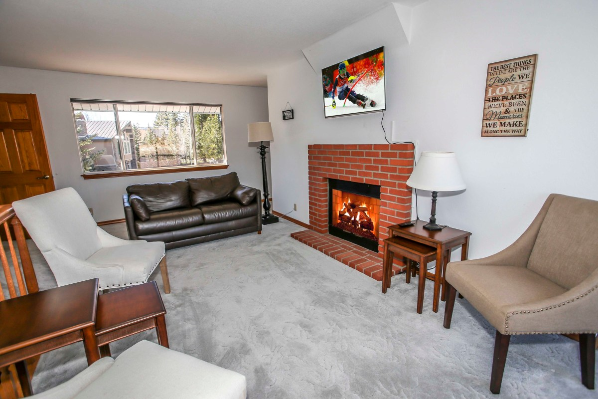 Lounge Area with Fireplace & Entertainment Center
