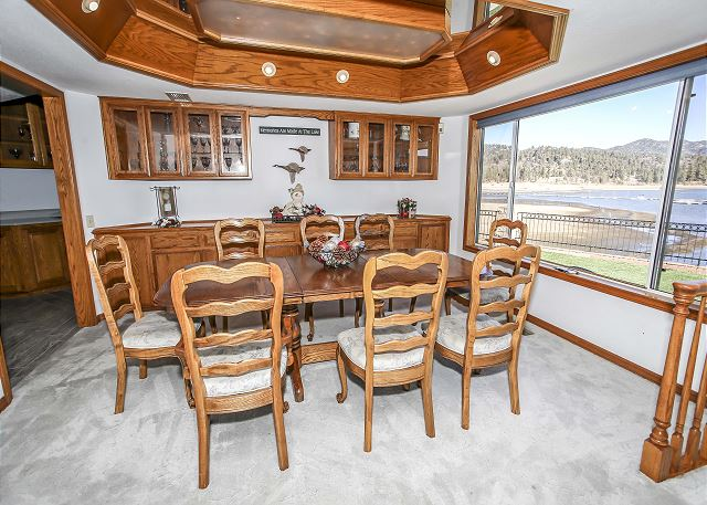 Dining Area with Gorgeous Views of Big Bear Lake.