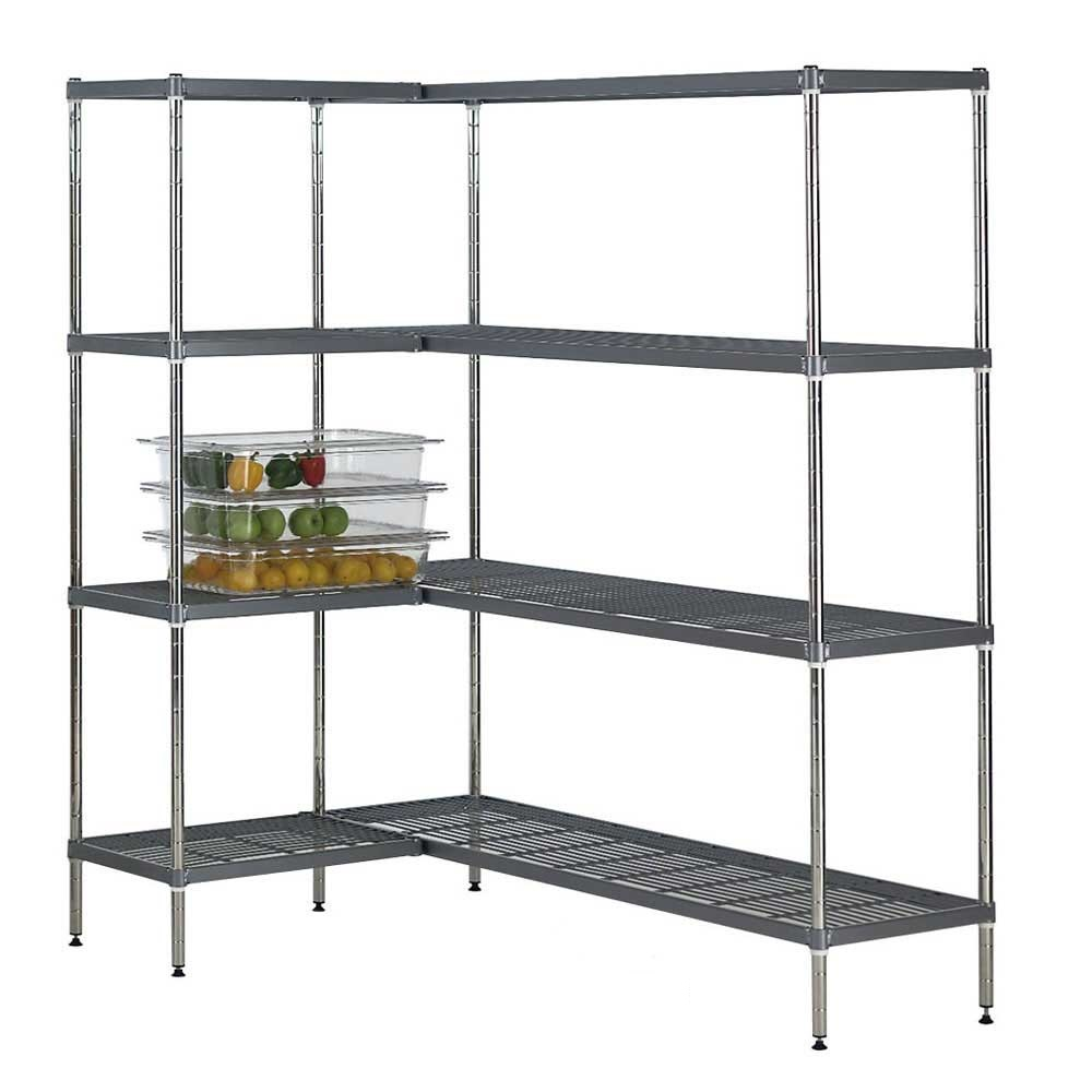 Quartermaster Airdeck Nylon Wire Shelving Bays with 4