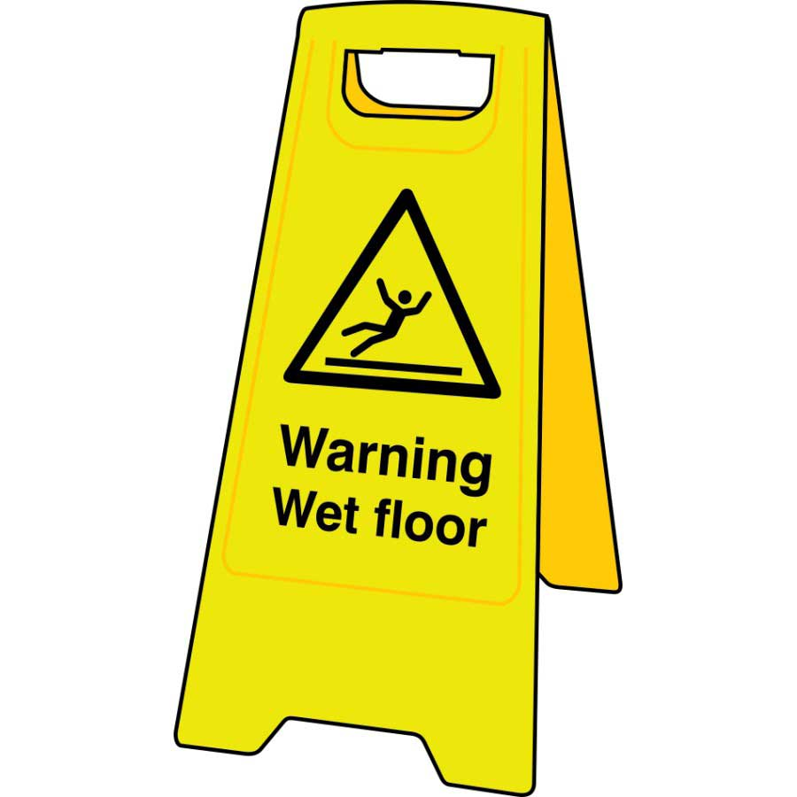 Warning Wet Floor Sign Stand C4702  ESE Direct