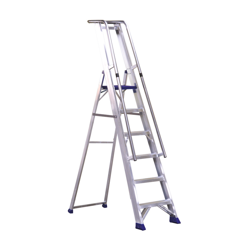 Heavy Duty Platform Step with Handrail, 5, 6, 7, 8, 10, 12