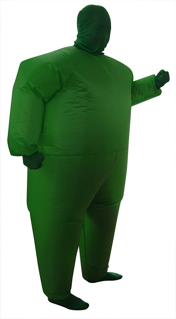 Inflatable FanOperated Green Fancy Dress Costume