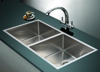 1.2mm Handmade Double Stainless Steel Sink with Waste ...