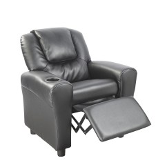 Inflatable Chair With Cup Holder Counter Height Kitchen Table And Chairs Pu Leather Kids Recliner Drink - Furniture > Home