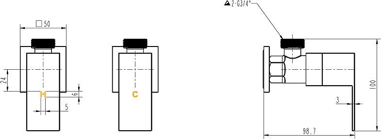 Chrome Laundry Washing Machine Stops Mixer Tap Set w