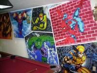 Full Superhero Wall Mural by DARK_REIGN - Fanart Central