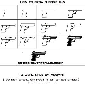 gun draw basic drawing weapon fanart central opinion