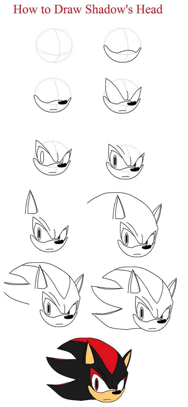 How to draw Shadow the Hedgehog by xxXShadowWolfXxx