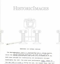 1987 press photo mercedes benz 190e 2 3 performance [ 796 x 1000 Pixel ]