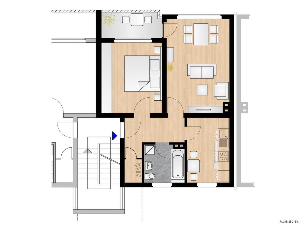 Frisch renovierte 2Zimmer Wohnung mit Balkon im grnen