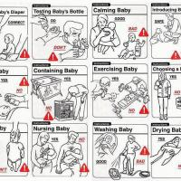 Funny Don'ts - Baby Care Instructions Chart