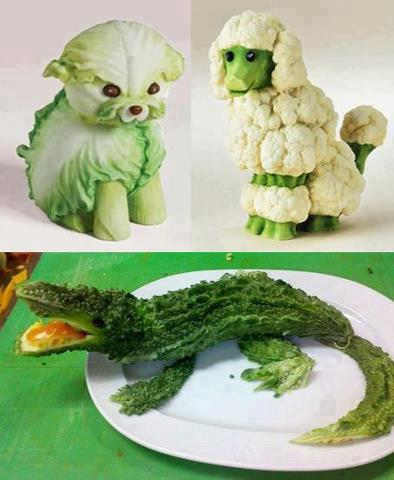 Animals created by Vegetables - Creative