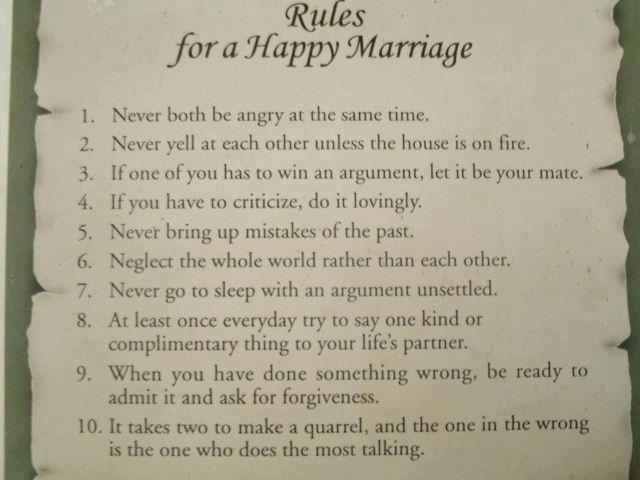 Rules of Happy Marriage