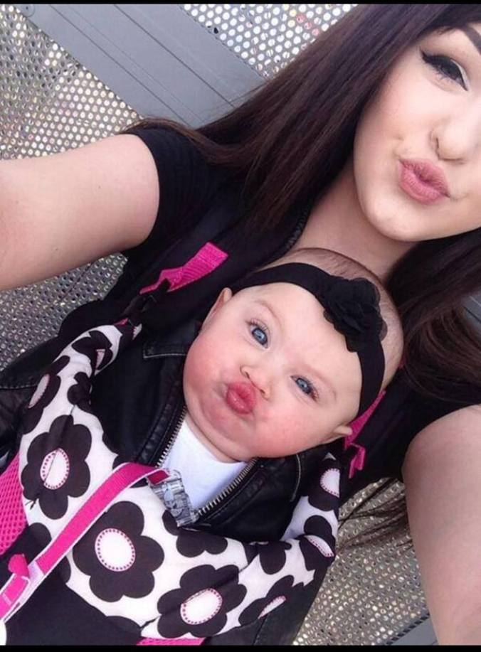 beautiful mom with cute baby