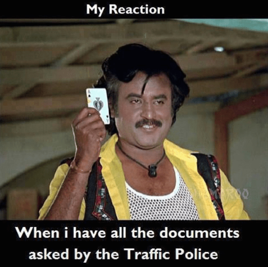 documents to traffic police