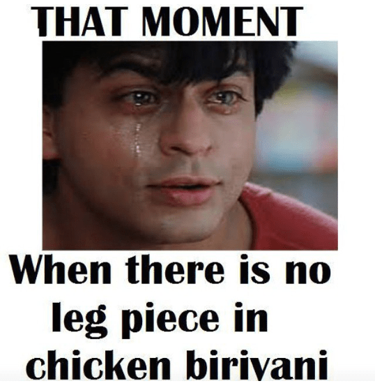 leg piece in biryani